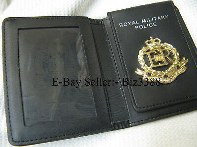 Damaged~ British Army Card Holder with Royal Military Police Badge