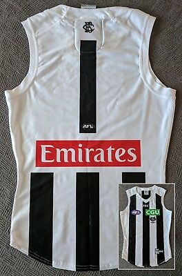 2017 Collingwood Alex Fasolo Player Issue Clash Guernsey 125th anniversary logo