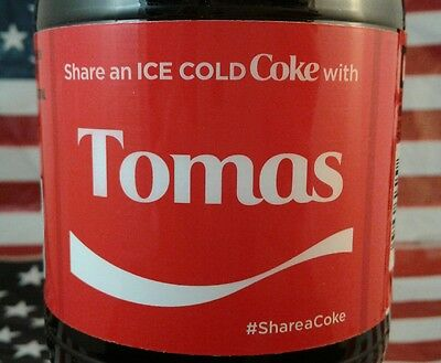 Share A Coke With Tomas Limited Edition Coca Cola Bottle 2017 USA
