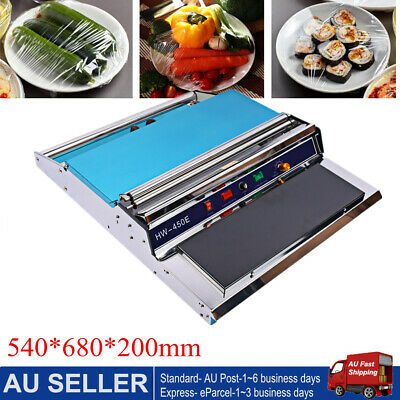 New Food Tray Wrapper Film Wrap Sealer Sealing Machine For Fruit Food 220V