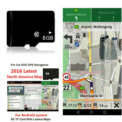 8GB Car GPS Map Micro SD Card USA Canada Mexico North America for Android System