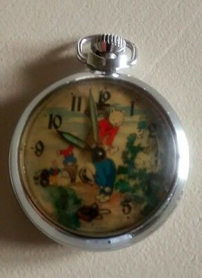 Rupert the Bear....Pocket Watch ..working well