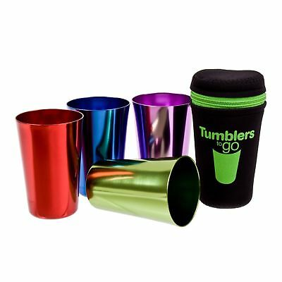 Tumblers Cup To Go Retro Portable Neoprene Anodised Cups Camping Tumbler