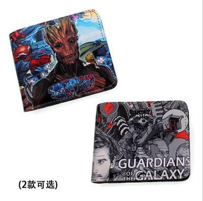 Guardians of the Galaxy Vol. 2 Printed Coins Wallet Bifold Zip Holders Purse