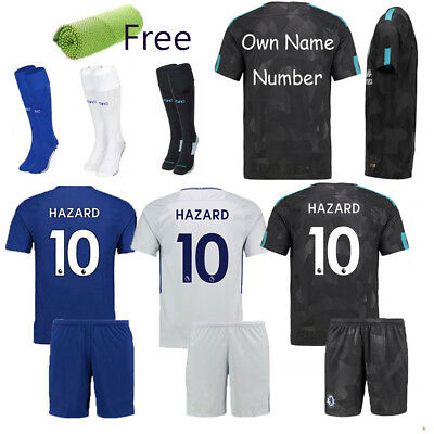 2018 Blue Football Club Suit Kid Boy 3-14 Soccer Short Sleeve Jersey Sports+Gift