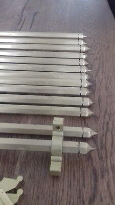 BRASS Stair Rods (13) with brackets, fixtures