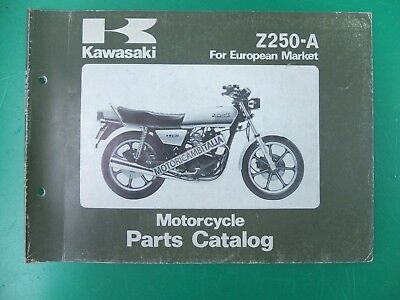 Kawasaki Z250 A A4 Motorcycle Catalogo Ricambi Manuale Spare Parts Catalog