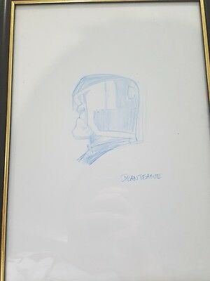 Judge Dredd sketch by Dylan Teague