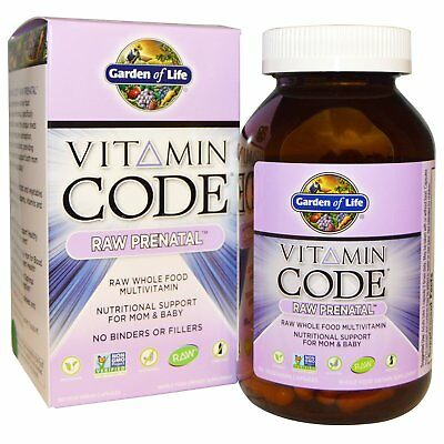 Prenatal Multivitamin Raw Whole Food Capsules by Garden of Life - 180 Veg Caps