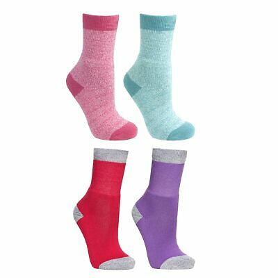 Trespass  Confess Girls Warm Winter Casual Socks for Hiking Walking 2 Pair Pack