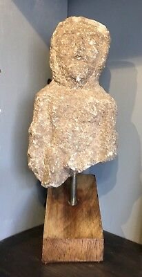 Medieval Stone Carving Figure Of Man