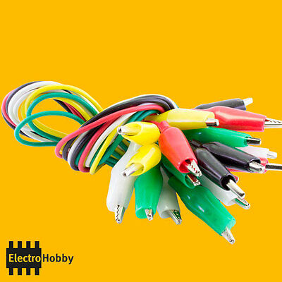 5x Cable with clamp crocodile 50 cm – Electronic, clamp, tip test, test