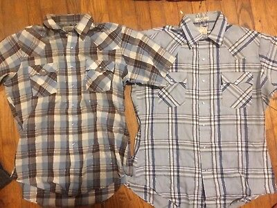 Vintage Levis Short Sleeve Button Up Shirt Lot Of 2 Shirts Western