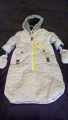 New with Tags Mothercare Baby Snowsuit Age 3-6 Months rrp £30 Warm & Snuggly