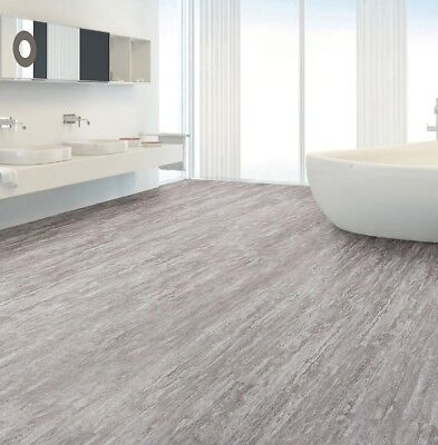 Grey Natural Stone Effect Waterproof Luxury Vinyl Click Flooring 2.22m² Pack New