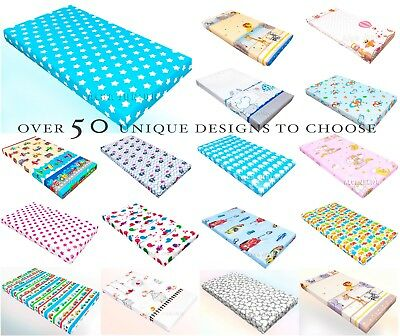 Baby Patterned Fitted Sheet 100% Cotton for CRIB COT COT BED many designs colors