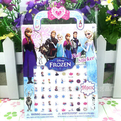 Kids Nail art stickers lot Frozen Disney Princess nail art decal Anna Olaf Elsa