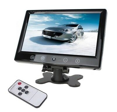 Monitor lcd 10 pollici per telecamera retromarcia auto 2 ingressi video av1 av2