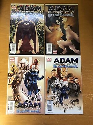 4 Issue Lot Adam Legend of the Blue Marvel 1-4 High Grade VERY HARD TO FIND!!