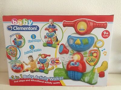 Brand New In Box - 2 In 1 Baby Activity Walker - Clementoni Age 9+