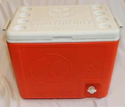 JAGERMEISTER 6-BOTTLE Holding SHOT COOLER Chest & Dispenser Orange & White