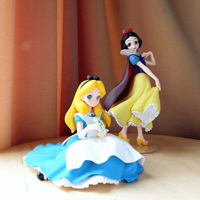 Banpresto Alice & Snow White SET Disney Characters Crystalux  Figure Wonderland