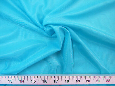 """Discount Fabric 108"""" Aerial Silks Acrobatic Dance Stretch Tricot Turquoise TR01"""