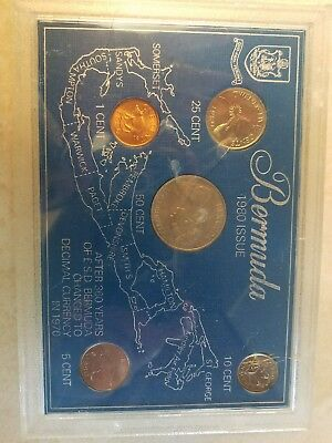 1980 bermuda coins set, uncirculated