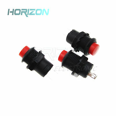 10PCS 2P SPST NO Red Momentary Round Push Button Switch 1.5A 250VAC 12mm US