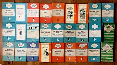 27 x Vintage Orange/Blue Penguin and Pelican books. Job lot. Many first editions