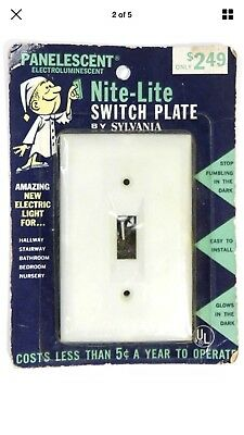 Vintage Glow In The Dark Switch Plate