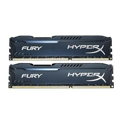 Kingston HyperX FURY 16GB 2x 8GB SDRAM PC3-12800 Desktop Memory HX316C10FBK2/16