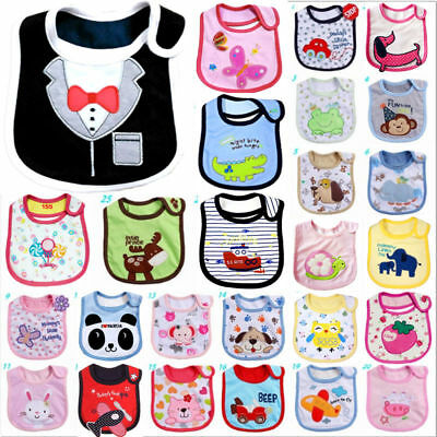 Kids Toddler Waterproof Lunch Cartoon Bibs Infant Baby Saliva Animal Towel Bib