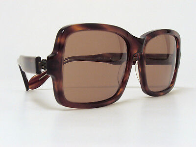 VINTAGE METZLER BIG SUNGLASSES TORTOISE BROWN 1970s GERMANY EXTRA LARGE RARE