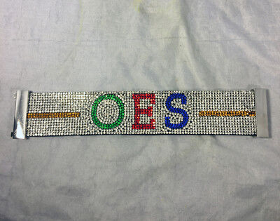 Order of the Eastern Star OES Bling Bracelet- Silver-New!