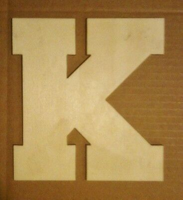 """16"""" Wooden Block font style Letter Unfinished wood letters Custom 16 inch"""