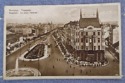ANTIQUE Posted 1929 in Belgrade PC to USA Depression Era AUTHENTIC 89 YRS OLD