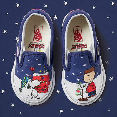 08f360da7a Vans X Peanuts A Charlie Brown Christmas Xmas Tree Toddler Classic Slip-On  Shoes