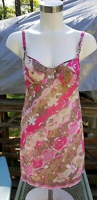Vtg 1960's Emilio Pucci Formfit Rogers Slip sz Small New Old Stock with no tags