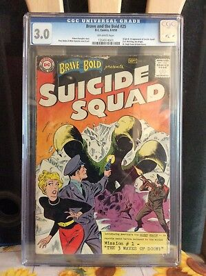 The Brave and the Bold #25 (CGC 3.0 ) 1st app of suicide squad