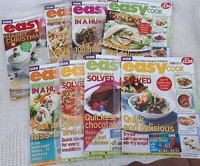 8 x BBC EASY COOK MAGAZINES APRIL to DECEMBER 2011 RECIPES HINTS & TIPS VGC