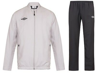 New Mens Umbro Full Tracksuit Jogging Bottoms Zip Jacket Track Top - Grey