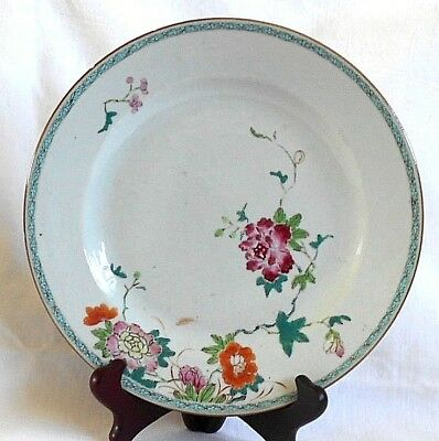 C18Th Chinese Famille Rose Plate With A Floral Pattern