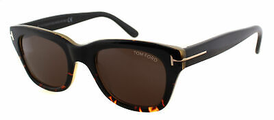 4f40f1f0fce Authentic Tom Ford Snowdon FT0237 TF237 05J Black Havana Plastic Sunglasses  52mm
