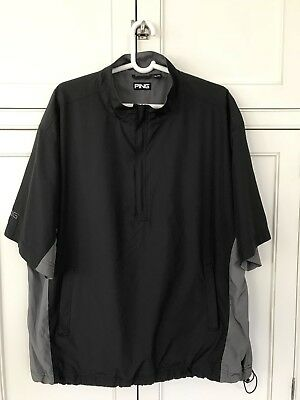 "Men's ""Ping"" Short Sleeve Golf Wind Shirt, Size Extra Large Excellent Condition"