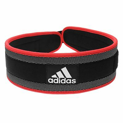 Adidas Weight Lifting Belt Nylon Training Black Red Mens Various Sizes New