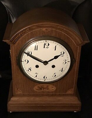 Beautiful Antique Large Haas and Soehne Mantel Clock PHS Movement Inlaid