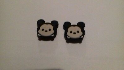 2 x Jibbitz Shoe charms for crocs Mickey mouse