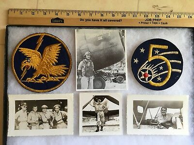 Wwii 342Nd Fighter Squadron Patch & Photos Ace Robert Sutcliffe Grouping