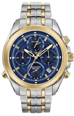 "New Bulova Two Tone Precisoinist Chronograph Men's  Watch 98B276 ""Mrrp $750"""